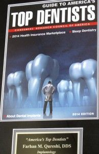 2014 Consumers Research Council of American top dentist award