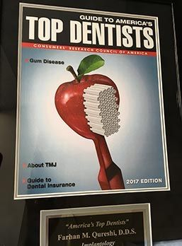top dentist award plaque