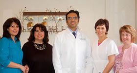 Dr. Qureshi with his team