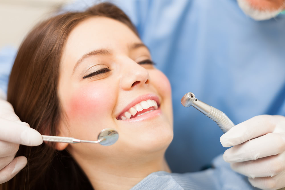 A woman about to have some dental work